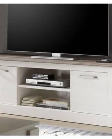 TV komoda Toronto, bielená pínia / pieskový dub%
