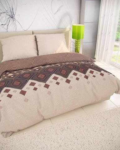 Kvalitex Bavlnené obliečky Coffee béžová, 140 x 200 cm, 70 x 90 cm