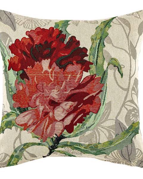 Philips Boma Trading Obliečka na vankúšik Ruže červená, 45 x 45 cm