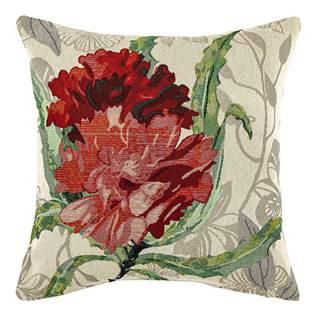 Boma Trading Obliečka na vankúšik Ruže červená, 45 x 45 cm