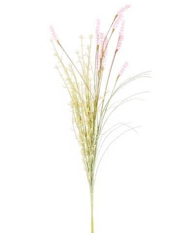 Umelé lúčne kvetiny levanduľa 56 cm, ružová