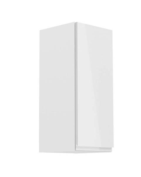 Tempo Kondela Horná skrinka biela/biely extra vysoký lesk pravá AURORA G30