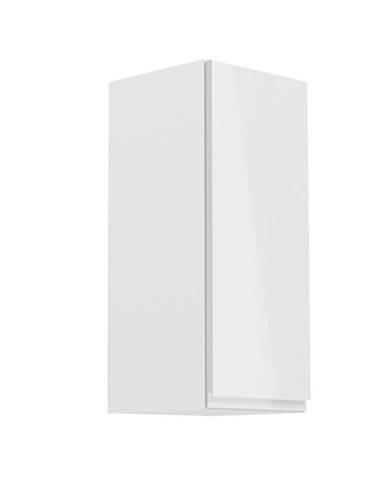 Horná skrinka biela/biely extra vysoký lesk pravá AURORA G30