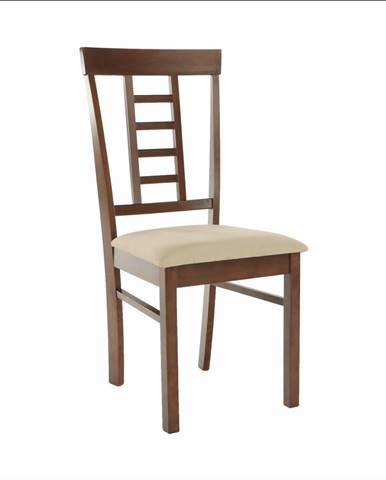 Jedálenská stolička orech/béžová OLEG NEW