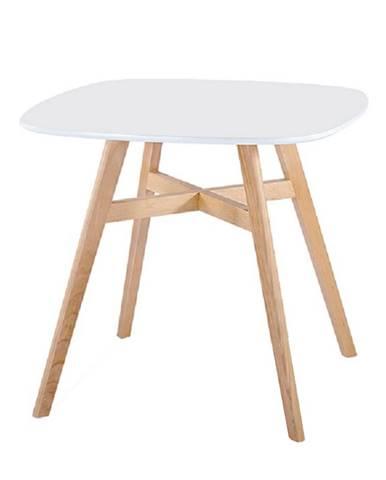 Jedálenský stôl biela/prírodná DEJAN 2 NEW