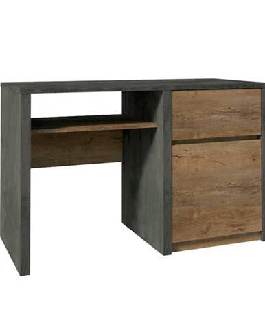 PC stolík dub lefkas tmavý/smooth sivý MONTANA B1
