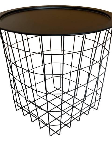 Kondela Príručný stolík čierna MOKAD