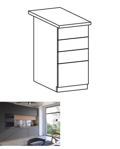 Spodná skrinka dub artisan/sivý mat s otváraním PUSH UP LANGEN D40S3