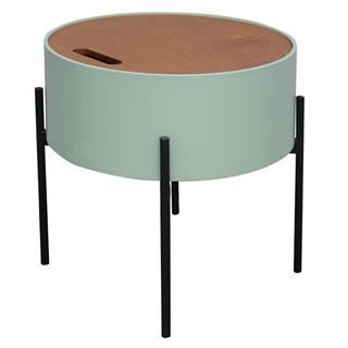 Príručný stolík neo mint/prírodná/čierna MOSAI