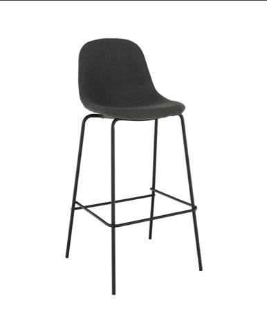 Barová stolička tmavosivá látka/kov MARIOLA NEW rozbalený tovar