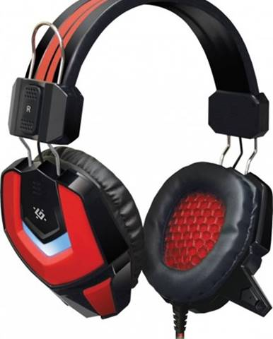 Headset Defender Ridley, s mikrofónom, červeno-čierna