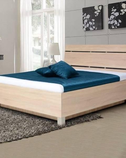 OKAY nábytok Drevená posteľ Zara 180x200, bardolino, ÚP