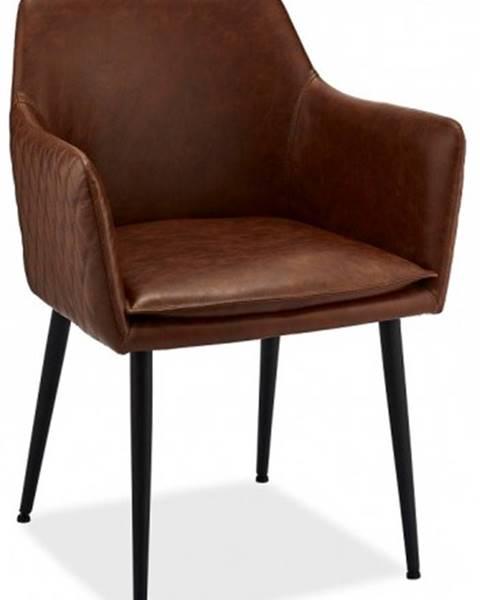 OKAY nábytok Jedálenská stolička Monda hnedá, čierna