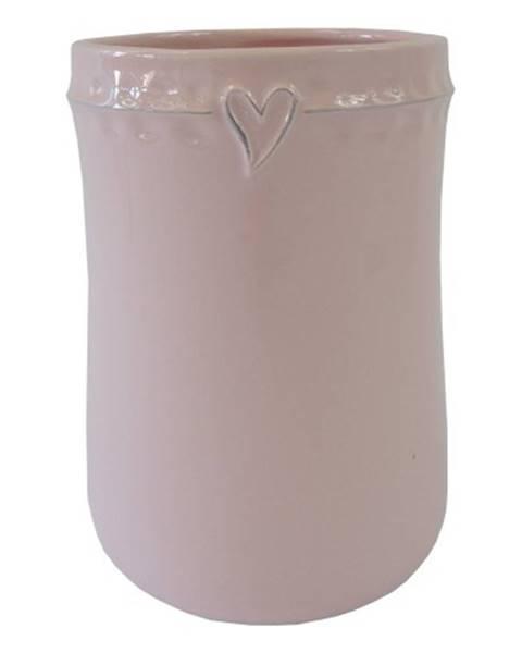 OKAY nábytok Keramická váza VK46 ružová so srdiečkom