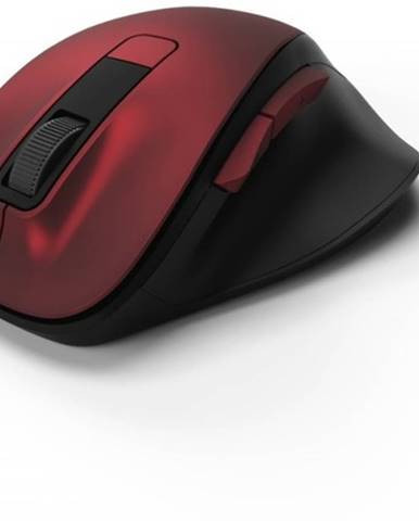 Bezdrôtová myš Hama MW 500, tichá, 6 tlačidiel, červená