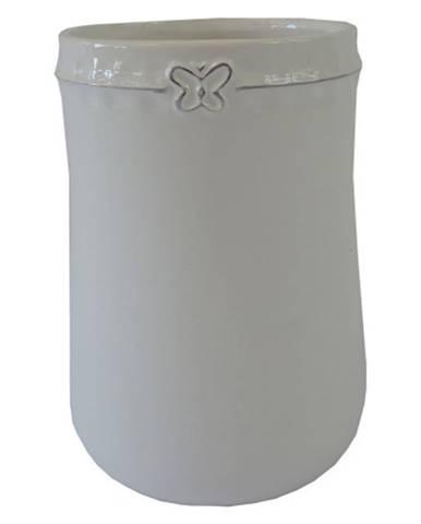 Keramická váza VK51 biela s motýlikom