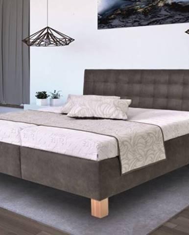 Čalúnená posteľ Victoria 160x200 vr. matraca, pol. roštu a ÚP