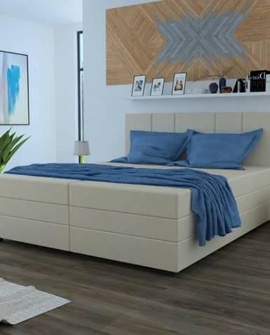 Čalúnená posteľ Alexa 180x200, vr. matraca a úp, béžová