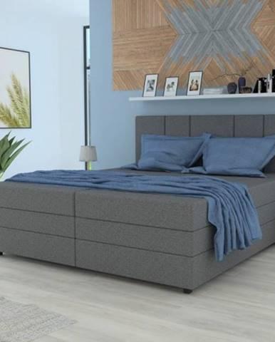 Čalúnená posteľ Alexa 180x200, vr. matraca a úp, sivá