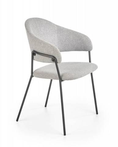 Jedálenská stolička Amaga sivá
