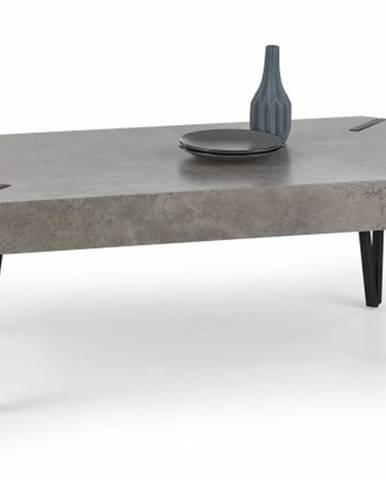 Emily - konferenčný stolík beton, černý