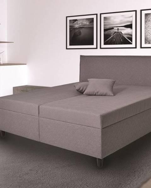 OKAY nábytok Čalúnená posteľ Ariana 180x200, sivá, vr. mat., pol. roštu, úp