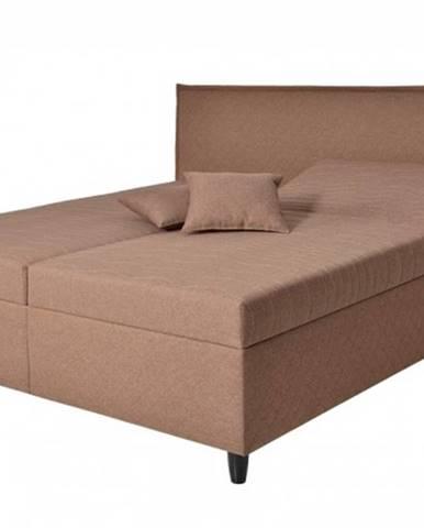 Čalúnená posteľ Ariana 180x200, hnedá, vr. mat., pol. roštu, úp