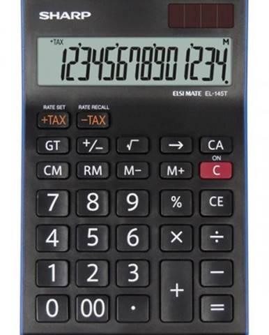 Kancelárska kalkulačka Sharp EL-145TBL, solárne napájanie