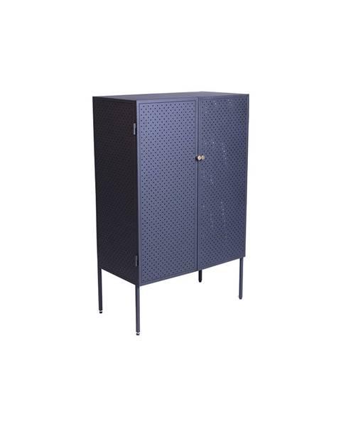 Canett Čierna kovová komoda Canett Brooks, výška 110 cm