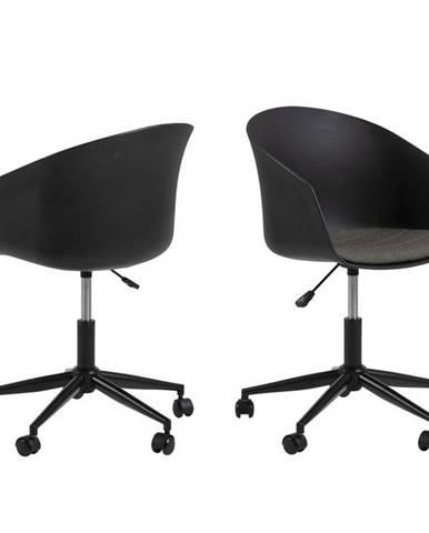 kancelárska stolička Moon Čierna