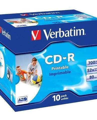 Disk Verbatim Printable CD-R DLP 700MB/80min. 52x, jewel box, 10ks