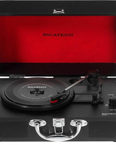 Ricatech Gramofón Ricatech RTT20 Revolution čierny/červen