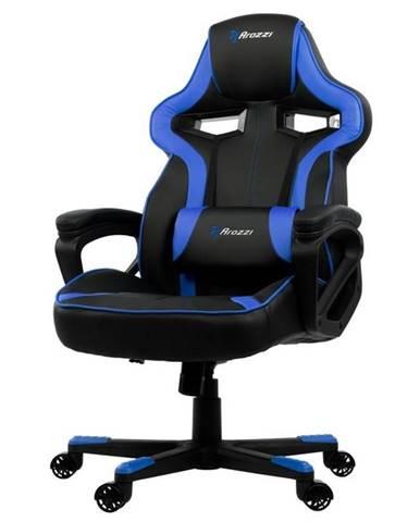 Herná stolička Arozzi Milano čierna/modrá