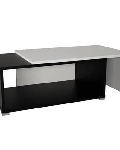 Konferenčný rozkladací stolík čierna/biela DRON