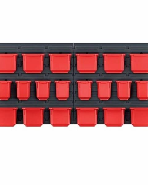 Compactor Závesný panel na náradie s 20 boxmi Orderline, 80 x 16,5 x 40 cm
