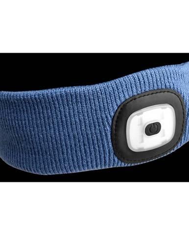 Sixtol Čelenka s čelovkou 45 lm, USB, uni, modrá