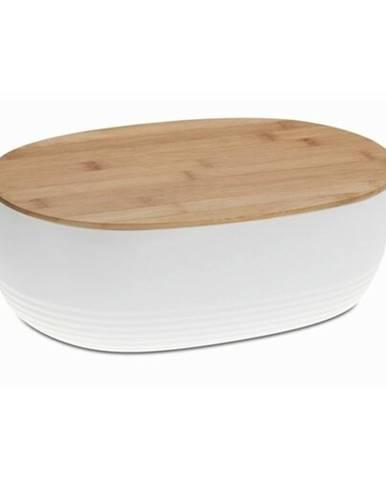 Kela Plastový chlebník NAMUR, biela