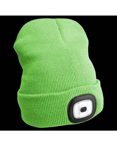 Sixtol Čiapka s čelovkou 45 lm, USB, uni, zelená