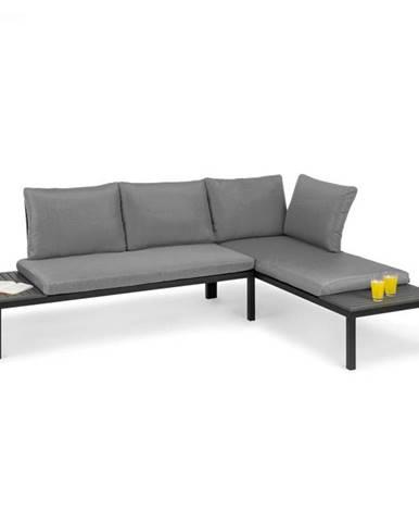Blumfeldt Cartagena, ležadlo, 2 dvojmiestna sedačka so stolíkom, oceľ, polyester
