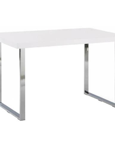 Jedálenský stôl biela HG + chróm TALOS poškodený tovar