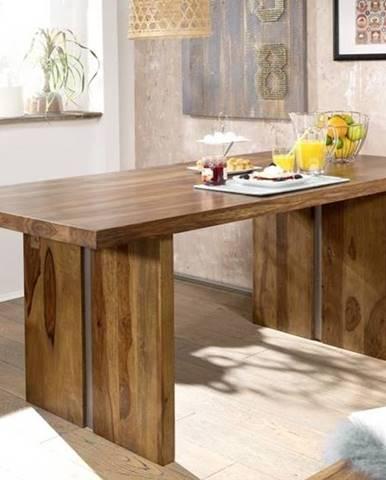 ROUND Jedálenský stôl 197x100 cm, hnedá, palisander