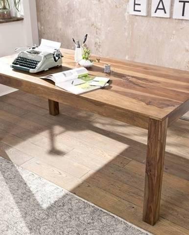 ROUND Jedálenský stôl Klasik 160x90 cm, hnedá, palisander