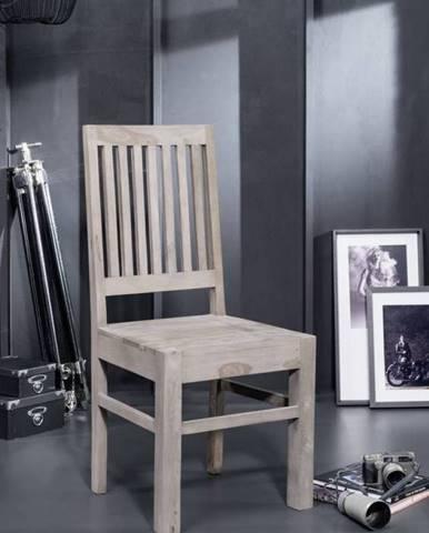 ROUND Stolička drevená, dymová, palisander