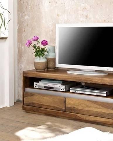 ROUND TV stolík 120x50 cm, hnedá, palisander
