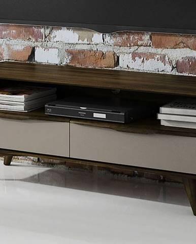SKANE TV stolík 120x48 cm, dub tmavohnedá