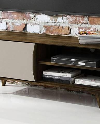 SKANE TV stolík I. 120x48 cm, dub tmavohnedá