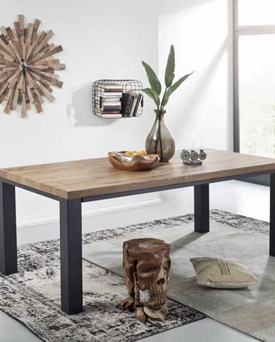 TIROL Jedálenský stôl 200x100 cm, tmavohnedá, dub