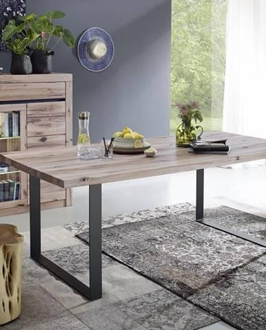 VEVEY Jedálenský stôl 200x100 cm, svetlohnedá, dub