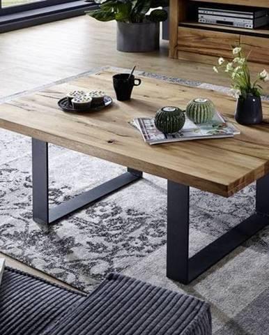 VEVEY Konferenčný stolík 90x90 cm, prírodná, dub