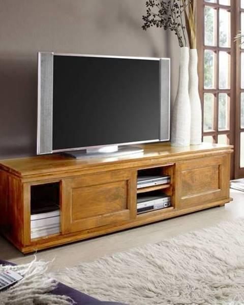 Bighome.sk CAMBRIDGE HONEY TV stolík 160x45 cm, akácia